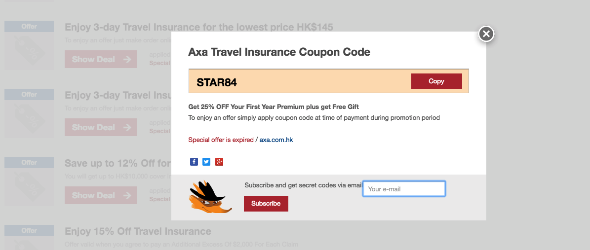 axa coupon code