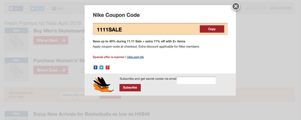 official 100% high quality newest collection Nike Promo Code November 2019 - ILoveBargain