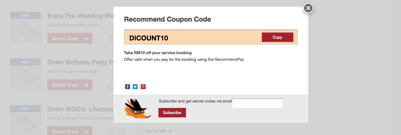Recommend.my Discount Code