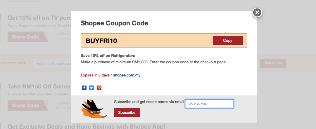 Shopee Coupon Code 87 Off August 2019 Ilovebargain