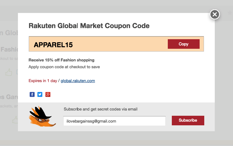 How to use a Rakuten Global Coupon?
